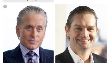 <i>Wall Street</i> character Gordon Gekko, played by Michael Douglas, and bankrupt developer Anton Wilson.