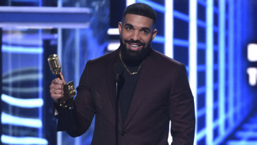 Drake accepts the award for Top Artist at the Billboard Music Awards.