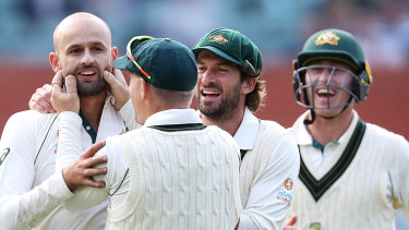 Nathan Lyon enjoyed a day out in Adelaide.
