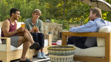 Alex (Adam Faison), Nicholas (Josh Thomas) and Darren (Christopher May) in the show, which airs on Stan.