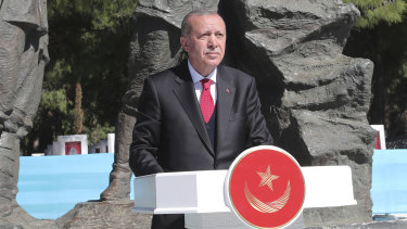 Turkey's President Recep Tayyip Erdogan has inflamed anti-Anzac sentiments as he campaigns in local elections.