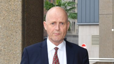 David Leyonhjelm arrives at the Federal Court in Sydney on Monday.