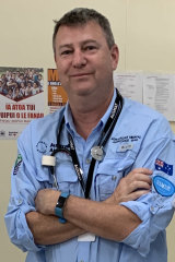 Senior paediatric nurse Dominic Sertori worked with local medical staff in Samoa's dedicated measles emergency department.