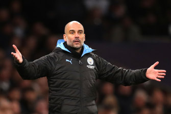 Pep Guardiola, the manager of Manchester City.