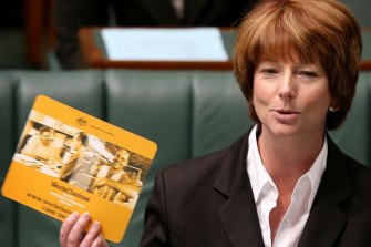 In March 2008, Deputy Prime Minister Julia Gillard revealed the incoming Labor government had found hundreds of thousands of left over WorkChoices supplies, inlcuding mouse pads, when it entered office.