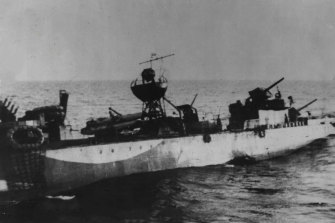 """HMAS Waterhen, to her crew """"the old Chook"""", was the Australian Navy's first loss at the hands of the enemy in World War II."""