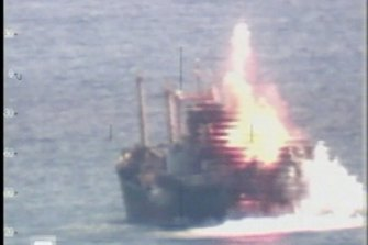 The heroin smuggling ship Pong Su is sunk off the NSW coast.