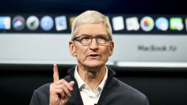 Apple chief executive Tim Cook says more than 100 per cent of Apple's global revenue decline occurred in China.