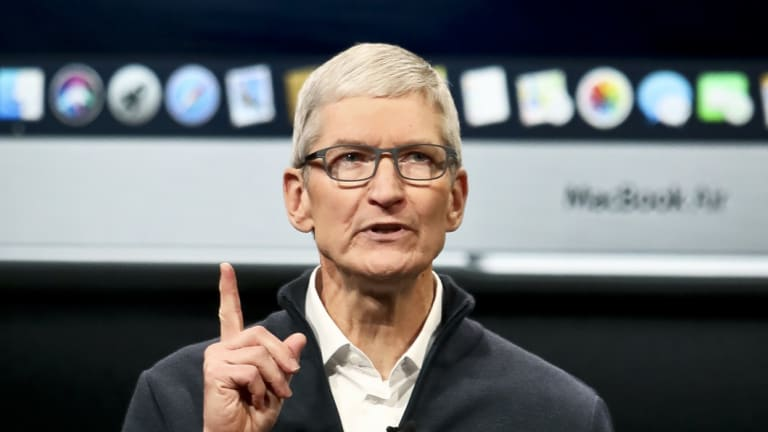 Apple chief executive Tim Cook says sales will miss estimates.