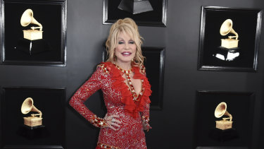 Dolly Parton at the 61st annual Grammy Awards last month.