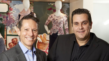 Mosaic Brands chairman Richard Facioni (left) and CEO Scott Evans.