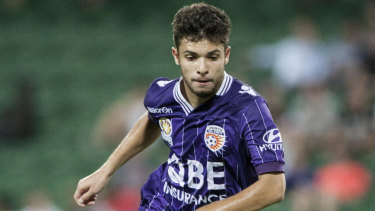 True colours: Daniel De Silva back in his Perth Glory days.