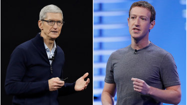 Apple CEO Tim Cook and Facebook's Mark Zuckerberg have been locked in an ongoing slanging match.