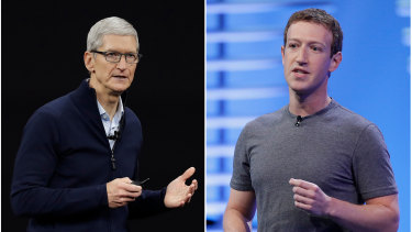Apple CEO Tim Cook and Facebook's Mark Zuckerberg have taken veiled swipes at each other over the years.