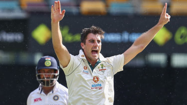 Pat Cummins takes the wicket of India's Cheteshwar Pujara on the final day at the Gabba. It is time he took the reins for Australia.