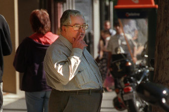 Paedophile priest Wilfred Baker outside court in 1999.