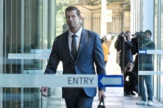 Ben Roberts-Smith arrives at court on Friday morning.
