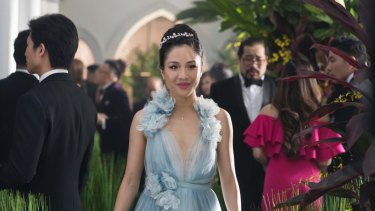 Constance Wu as Rachel Chu in Crazy Rich Asians.