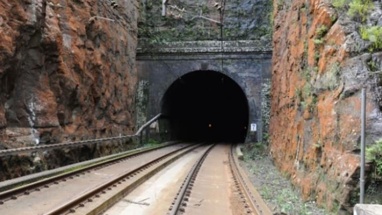 One of the tunnels on the Blue Mountains line that will be upgraded to make it suitable for the new intercity trains.