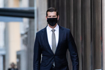 Ben Roberts-Smith outside the Federal Court on Friday, July 30.
