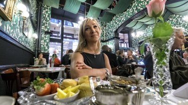 Kelly Koutoumanos owner  of  Hopetoun Tea Rooms in the Block Arcade in the cafe in 2015.