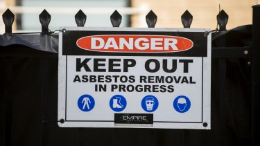 Education officials faced a grilling about asbestos removal at Sunnybank State High School during budget estimates.