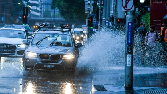 Early rain slowed Melbourne's traffic on roads this morning.