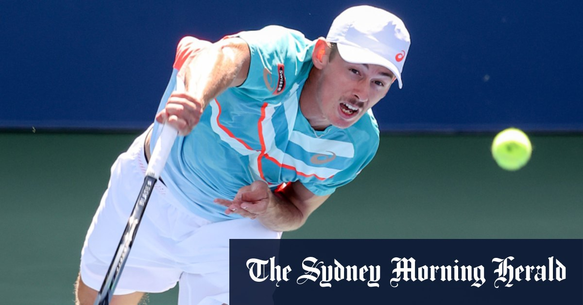 Alex de Minaur surges into US Open quarter-final with straight-sets win – Sydney Morning Herald