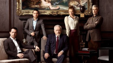 The cast of Succession (from left) Jeremy Strong, Kieran Culkin, Brian Cox, Sarah Snook and Alan Ruck.