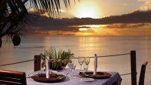 Slice of paradise anyone? A sunset dinner at Wadigi in Fiji is a great way to beat the virus blues.
