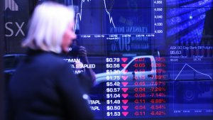 Australian shares were hit hard on the back of Monday's global rout.