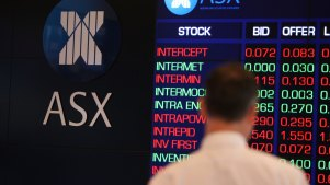 ASX. 8 AUGUST 2011. GENERIC PIC BY PETER BRAIG. STOCK EXCHANGE IN SYDNEY, SHARES, STOCK MARKET, STOCKS, SHARE PRICE.