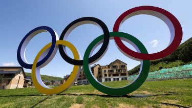 The athletes' village in Zhangjiakou, about 115 kilometres from Beijing, for the 2022 Winter Games.