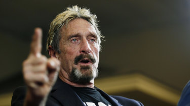 Internet security pioneer John McAfee, pictured in 2015.