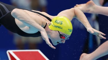 Cate Campbell turned to Helen Reddy's music in Tokyo.