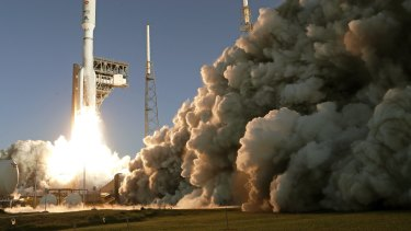 The Mars mission rocket lifting off from Cape Canaveral in July.