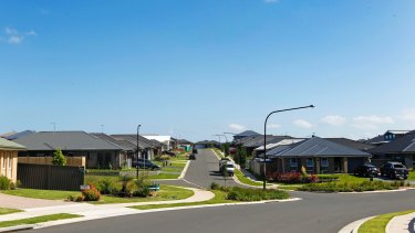 9.2.15 Generic images of Appin Valley, a new housing estate at Appin. Picture: Anna Warr