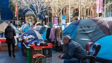 The tent city in front of the Reserve Bank of Australia in Martin Place pushed Sydney's rough sleepers into the spotlight in 2017.