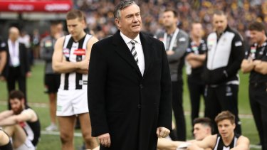 Eddie McGuire, the long-standing Pies president, is one of many figures no longer at the club less than three years afte the 2018 grand final.