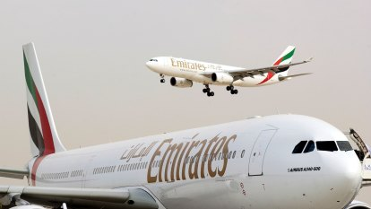 Emirates airline's profit almost quadruples on cheaper fuel, cost cuts