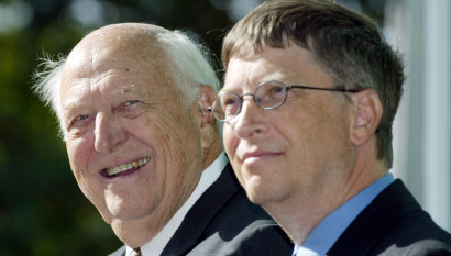 'Without me, you wouldn't be here': Microsoft billionaire's father dies at 94
