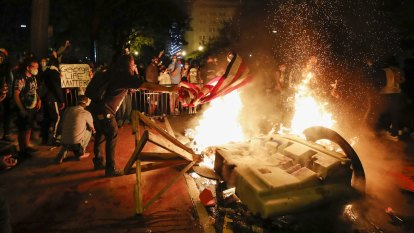 'This is our Arab Spring': Fires outside the White House as nation rages