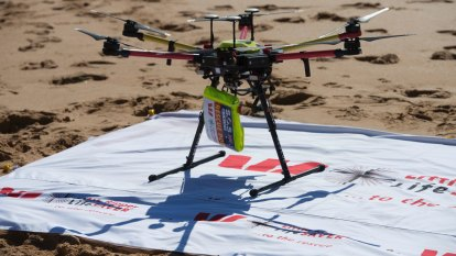 Drones to drop dye to stop drownings