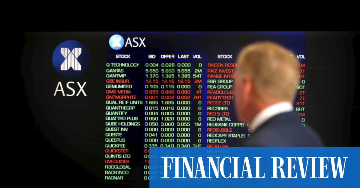 ASX falls 0.4pc in punishing day for tech shares – The Australian Financial Review