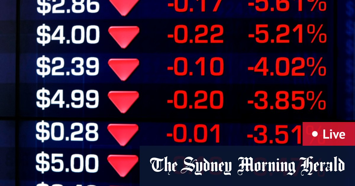 As it happened: ASX falls to three-week low amid global virus selloff – The Sydney Morning Herald