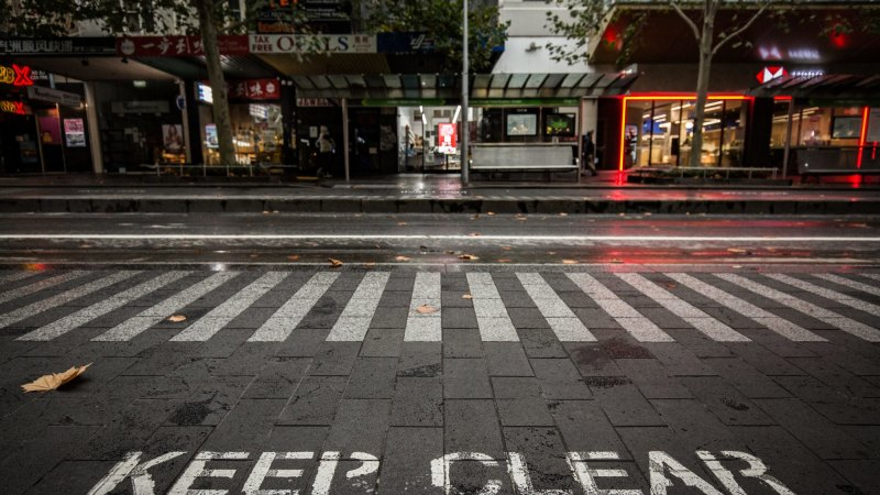 Pedestrians clear out of CBD in droves after second lockdown – The Age