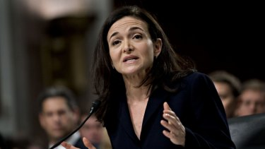 """""""We know we have a lot of work to do"""": Facebook's Sheryl Sandberg."""