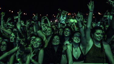 Crowds at Splendour in the Grass in 2016.