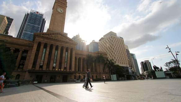 King George Square won't be getting a fountain until at least 2023