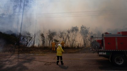 Three homes damaged as fire breaks out and flares quickly in the Hunter